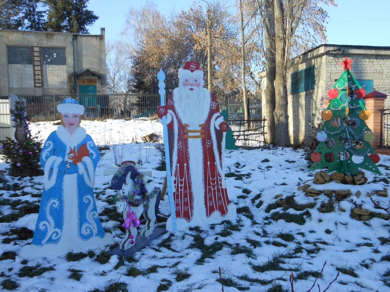 Как украсить территорию детского сада на новый год